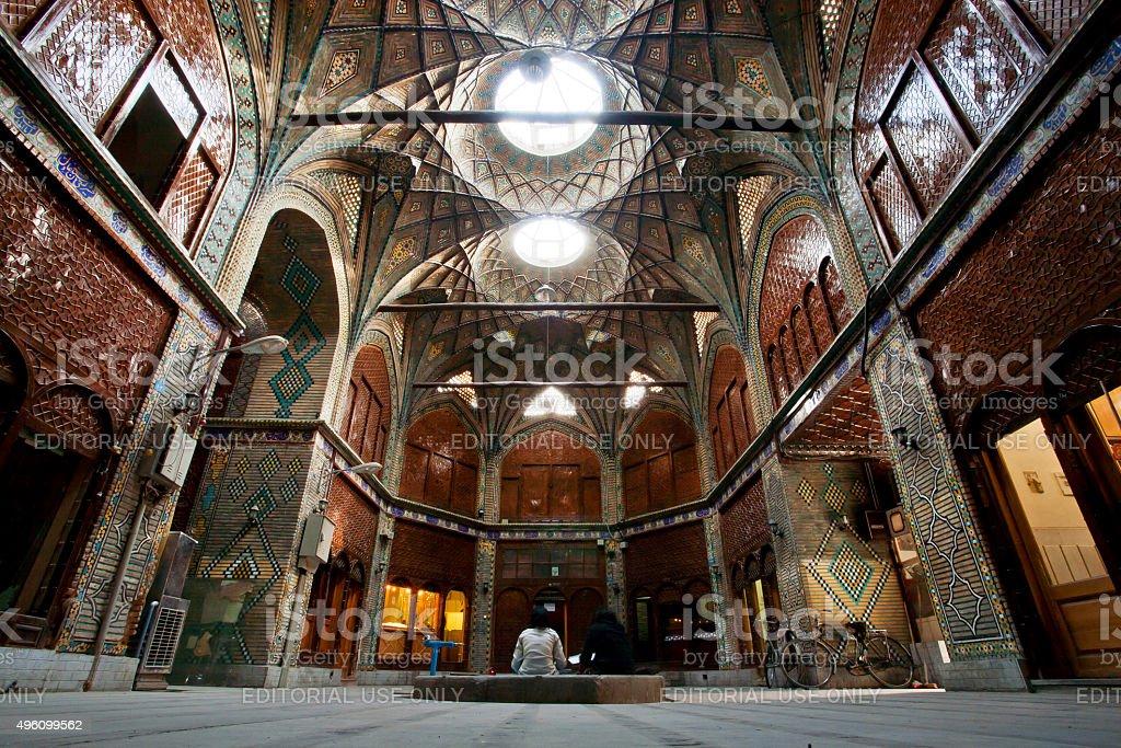 Inside courtyard of beautiful Bazaar stock photo