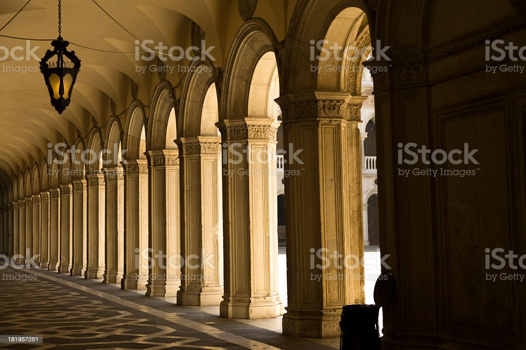 Inside courtyard of Doge's Palace royalty-free stock photo