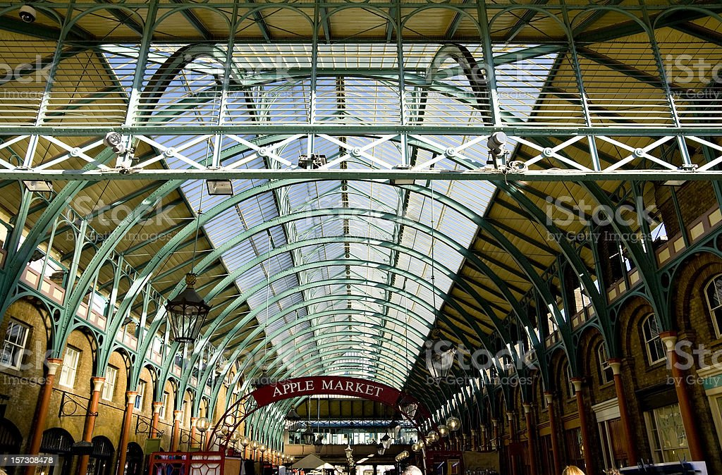 Inside Covent Garden Market stock photo