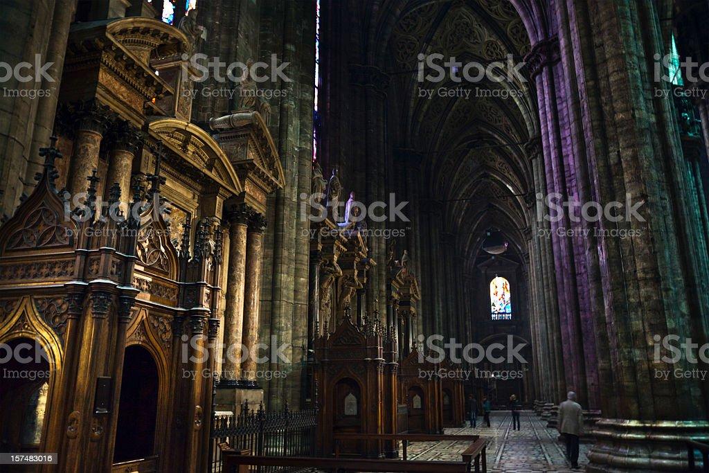 Inside Duomo of Milan royalty-free stock photo