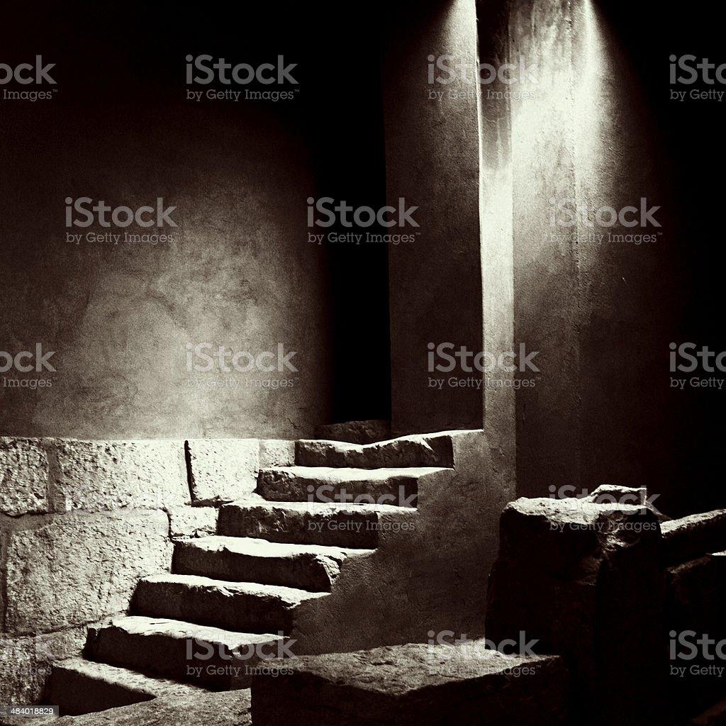 Inside Egyptian Tomb stock photo