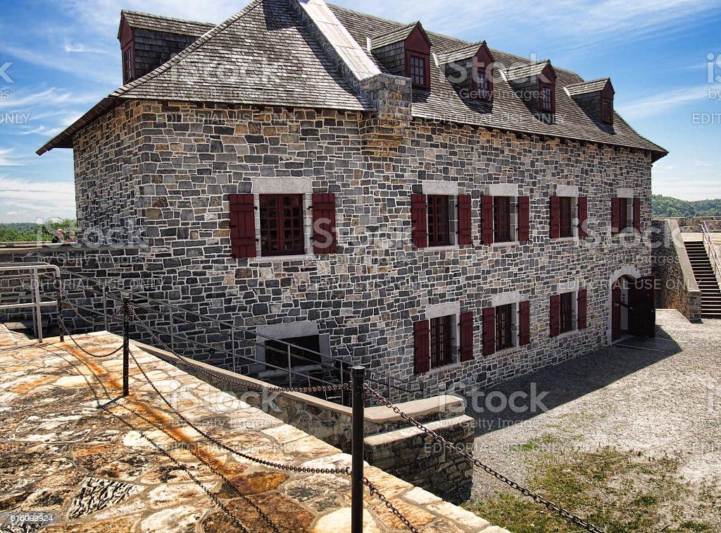 inside Fort Ticonderoga stock photo