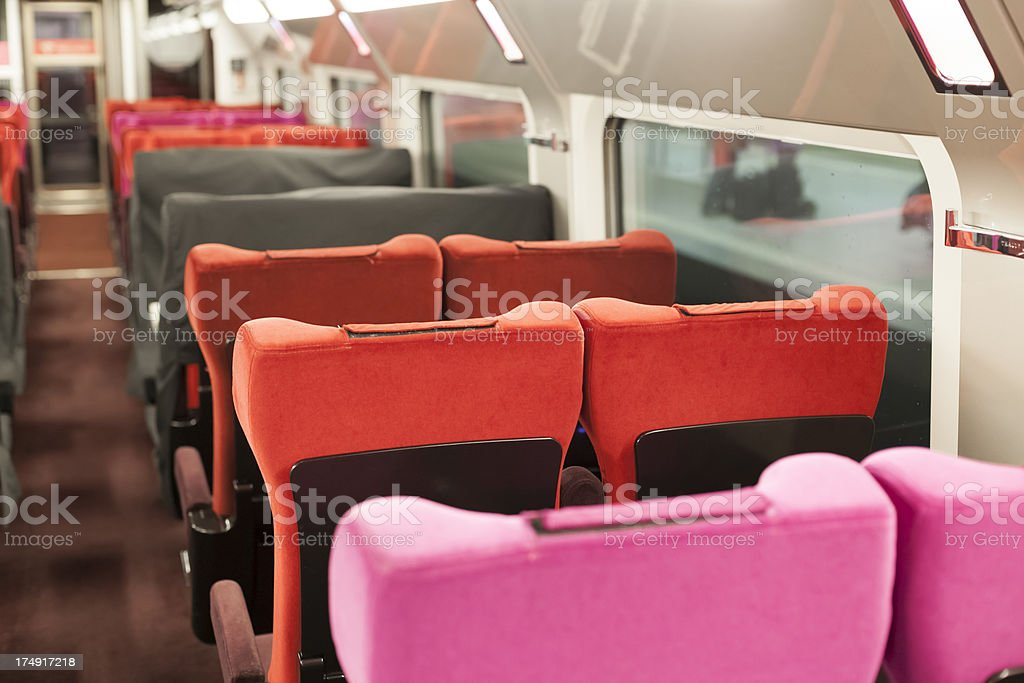 Inside French express train royalty-free stock photo