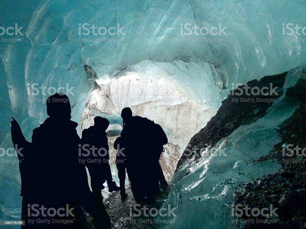 inside glacier stock photo