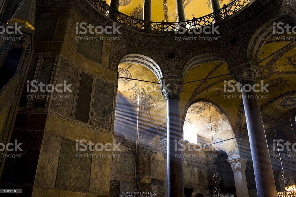 Inside Hagia Sophia stock photo