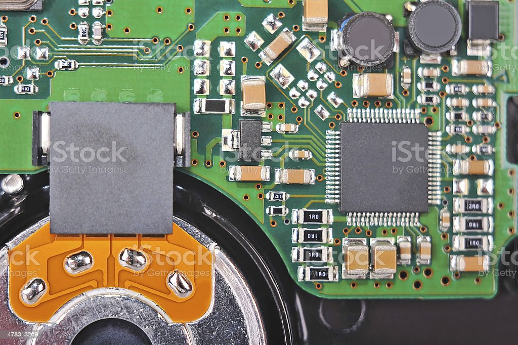 Inside hard disk drive royalty-free stock photo