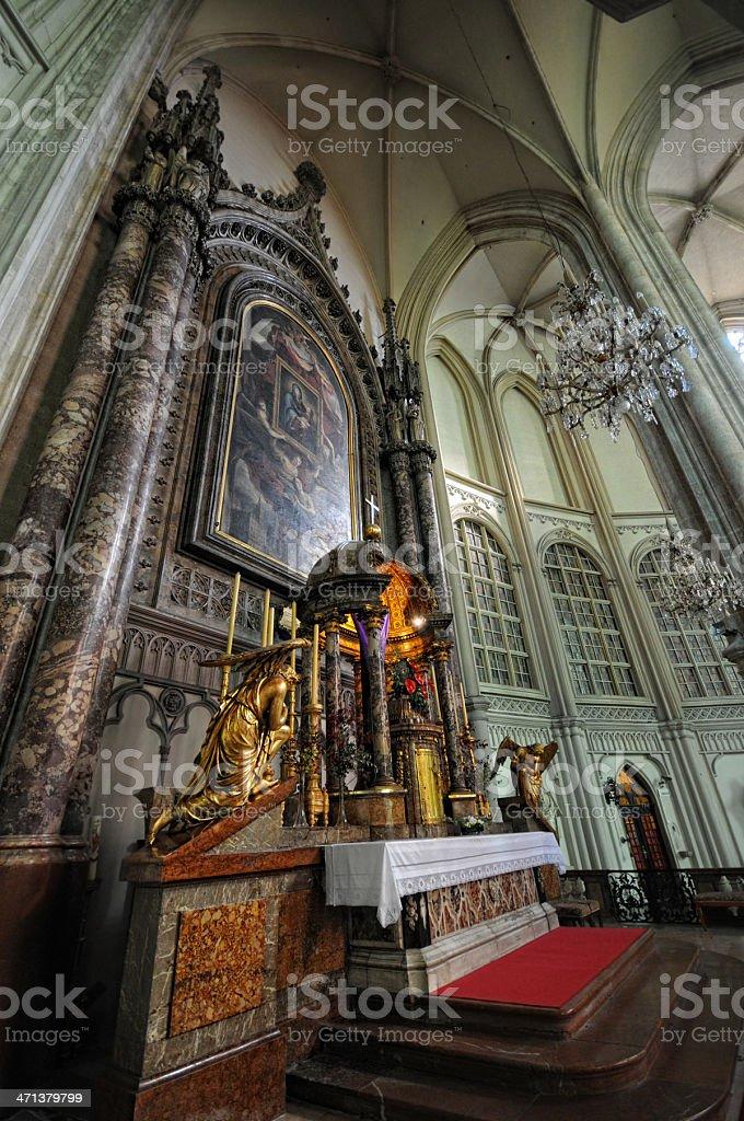 Inside HDR of Minoritenkirche (Vienna) - Greyfriars Church royalty-free stock photo