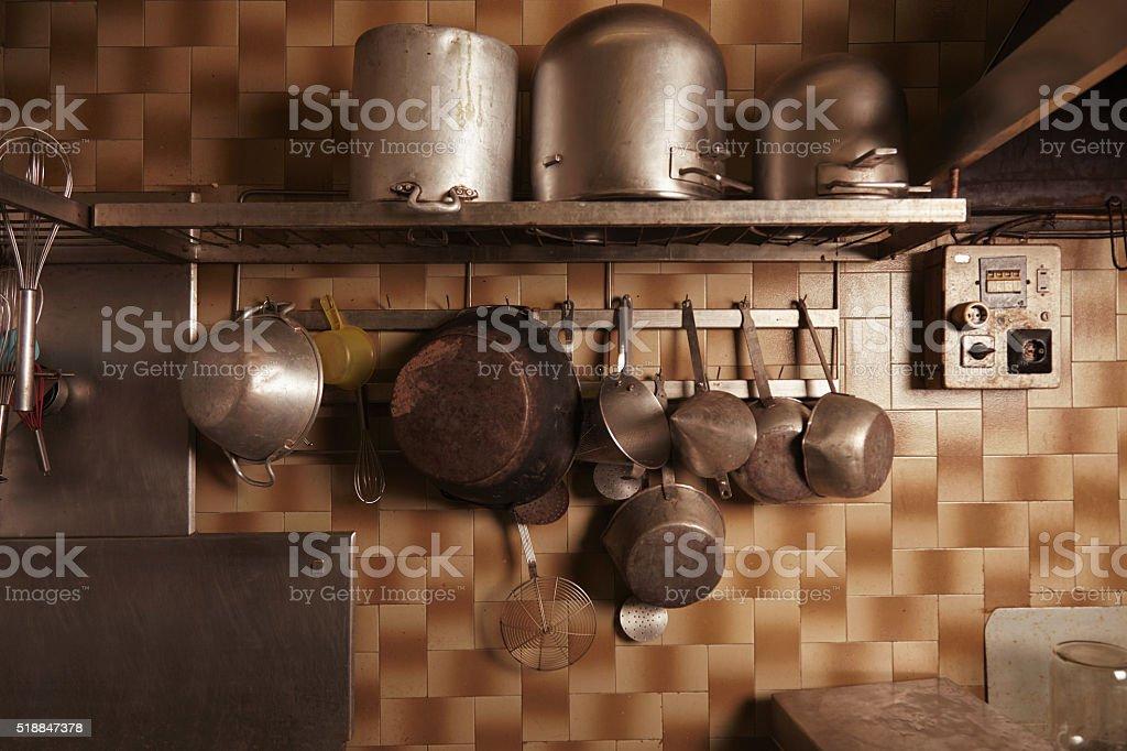 Inside in professional artisan bakery stock photo