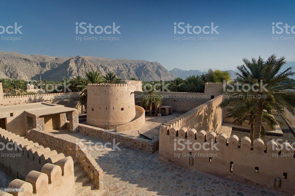 Inside Khasab castle, Musandam, Oman stock photo