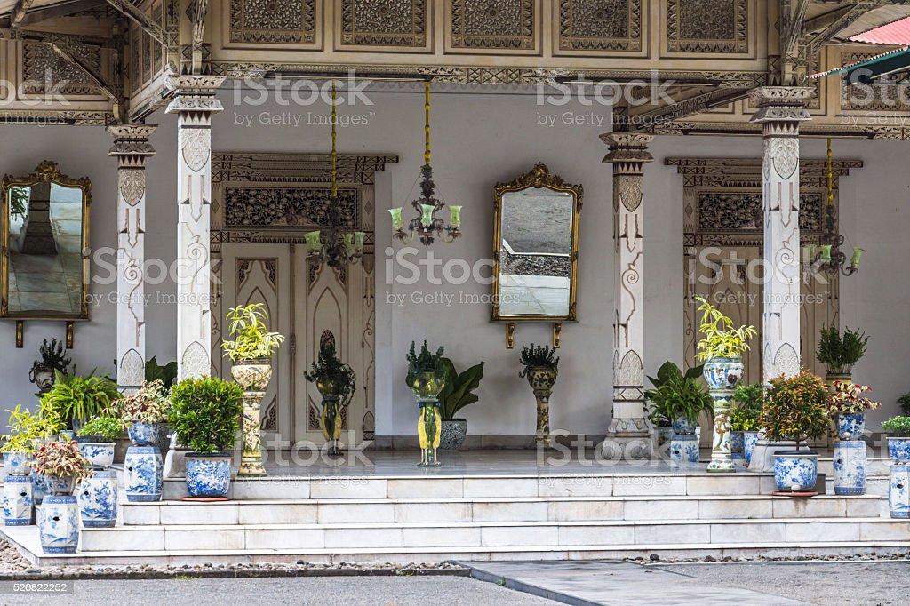 Inside King Palace Yogyakarta stock photo