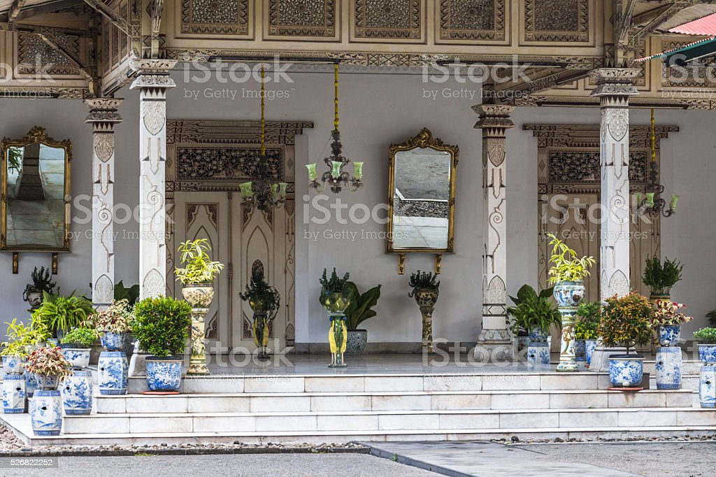 Inside King Palace Yogyakarta stock photo