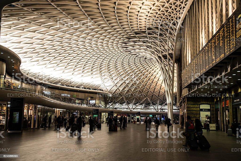 Inside King's Cross Station, London stock photo
