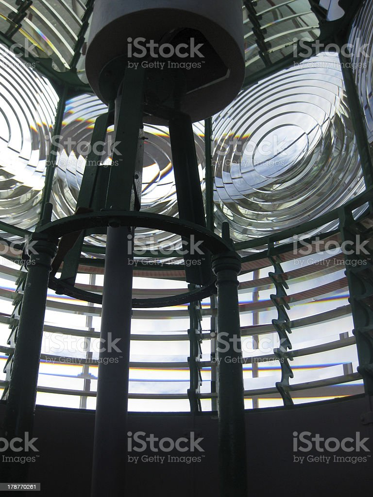 Inside Lindesnes Lighthouse stock photo