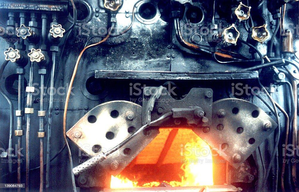 Inside Locomotive stock photo