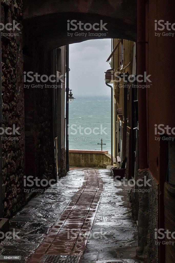 Inside Manarola stock photo