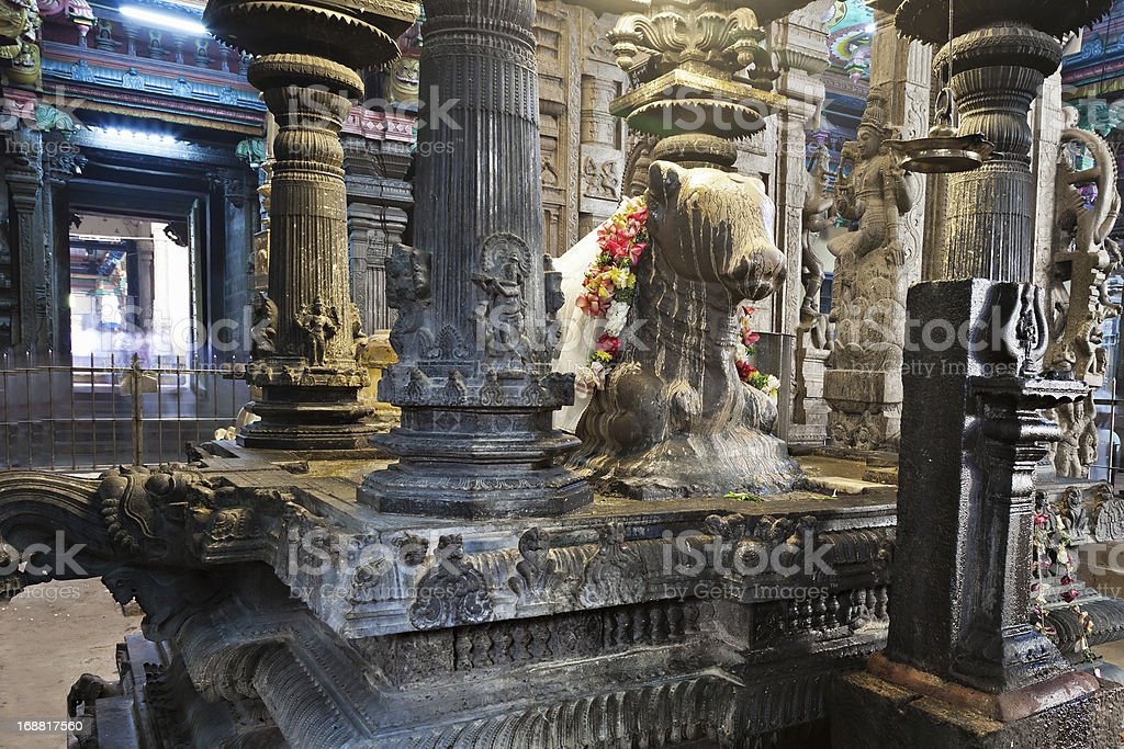 Inside Meenakshi Temple royalty-free stock photo