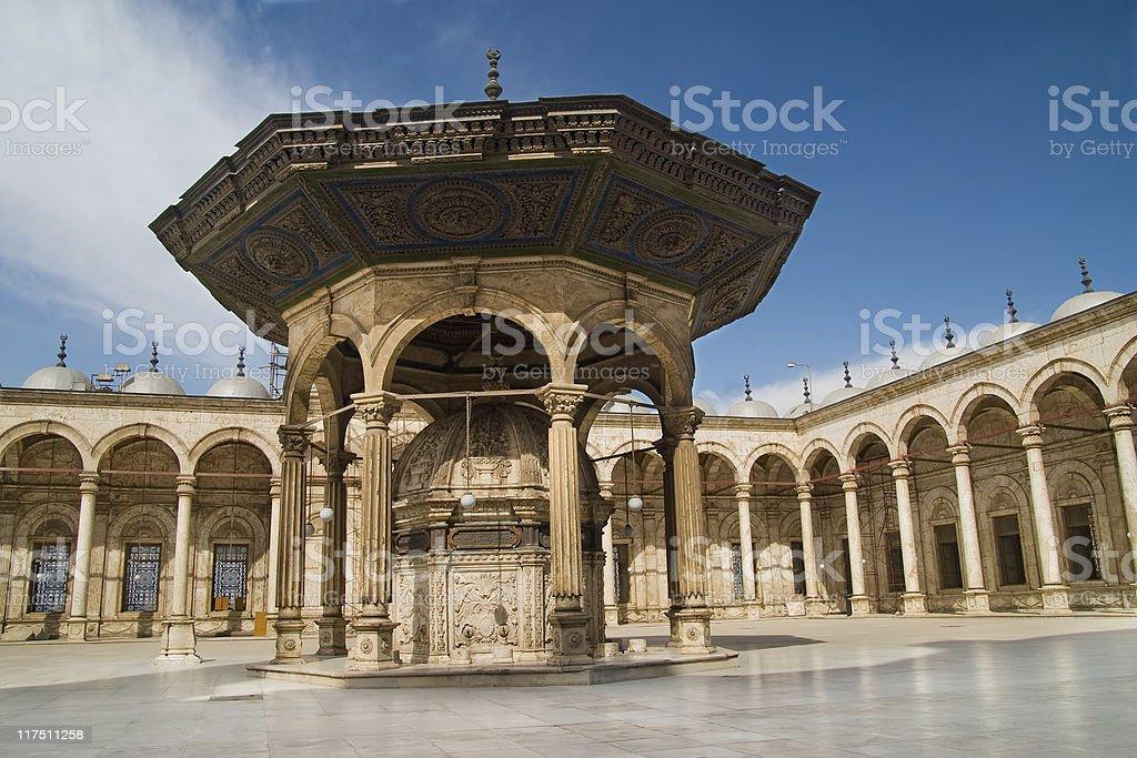 Inside Muhammad Ali mosque royalty-free stock photo