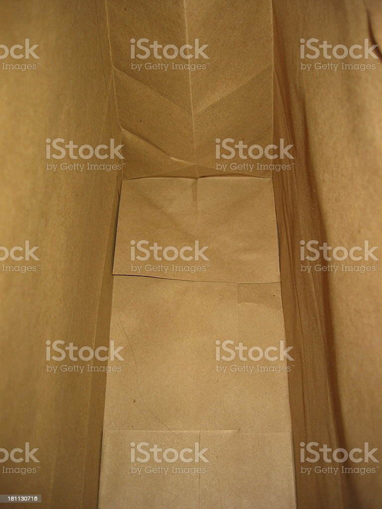 Inside of a bag royalty-free stock photo