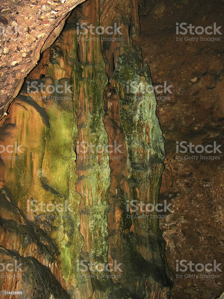 Inside of a cave royalty-free stock photo