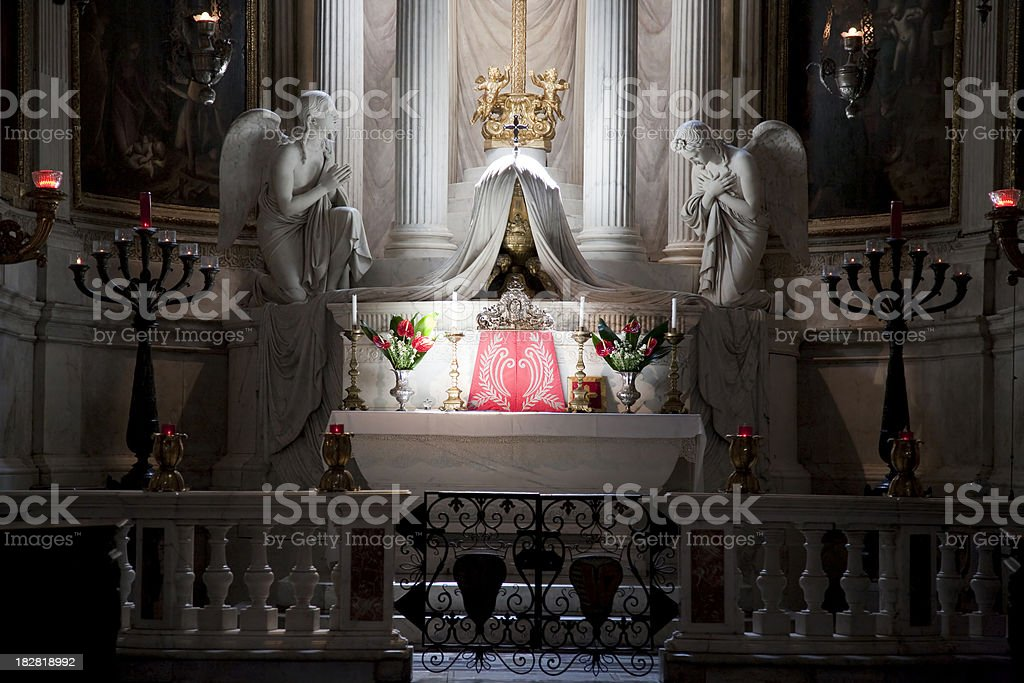 Inside of a church royalty-free stock photo