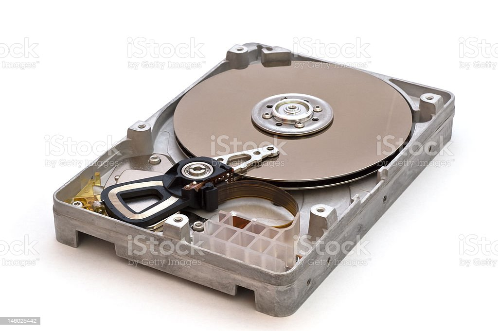 Inside of a harddisk royalty-free stock photo