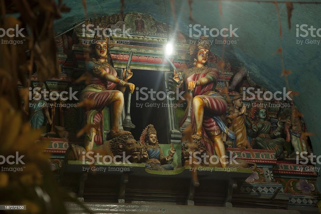 Inside of a Hindu temple royalty-free stock photo