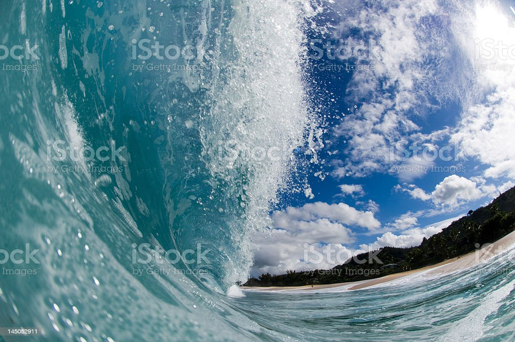 inside of a hollow wave royalty-free stock photo