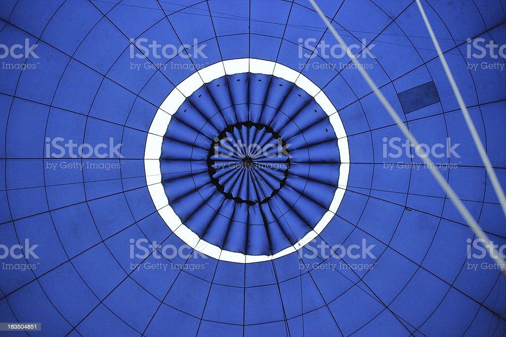 Inside of a Hotair Balloon stock photo