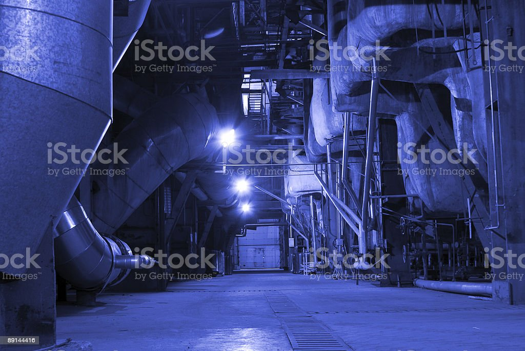inside of a modern industrial power plant royalty-free stock photo