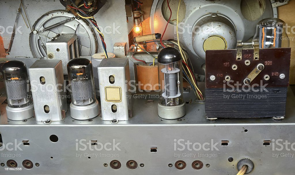 Inside of a Radio stock photo