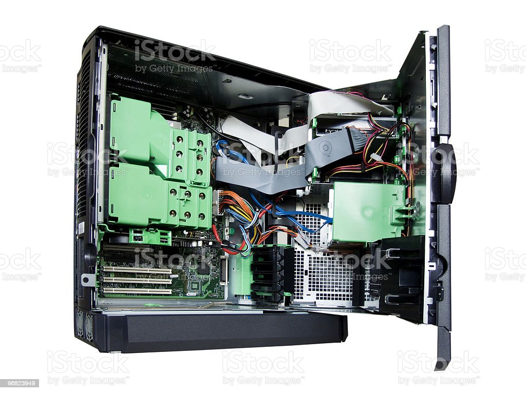 Inside of a Server stock photo