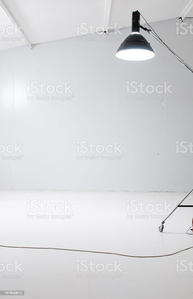 Inside of a studio with beauty dish royalty-free stock photo