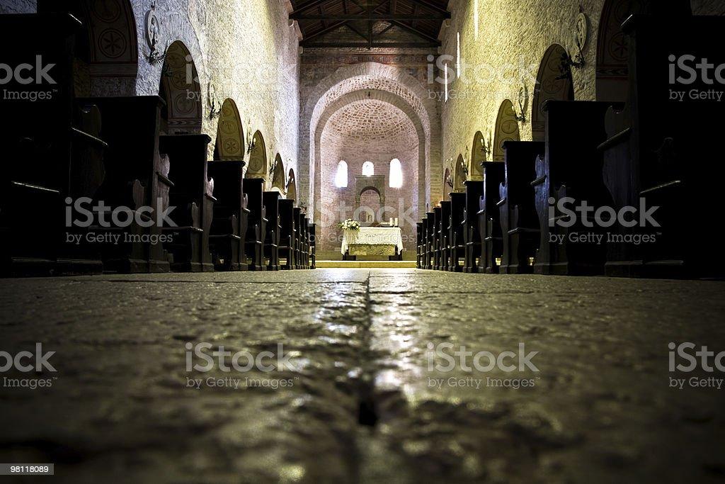 Inside of an italian church royalty-free stock photo