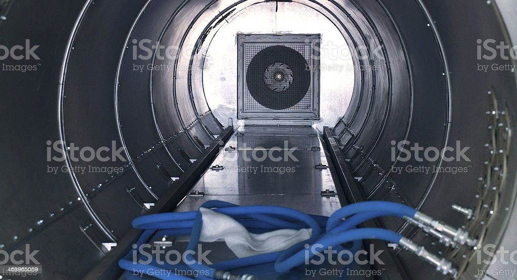 Inside Of Autoclave for composite materials stock photo