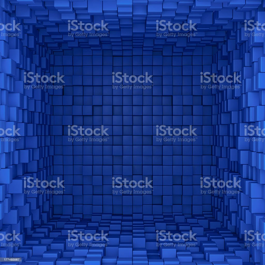 Inside of blue box royalty-free stock photo