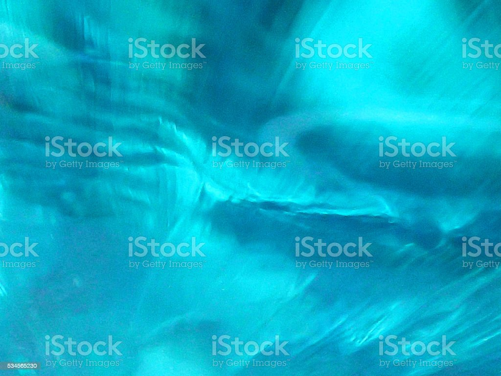 Inside of Blue Glass stock photo