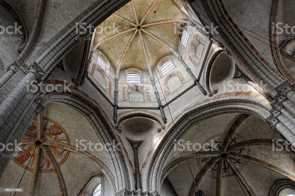 Inside of Cathedral Limburg (Hessen Germany) stock photo