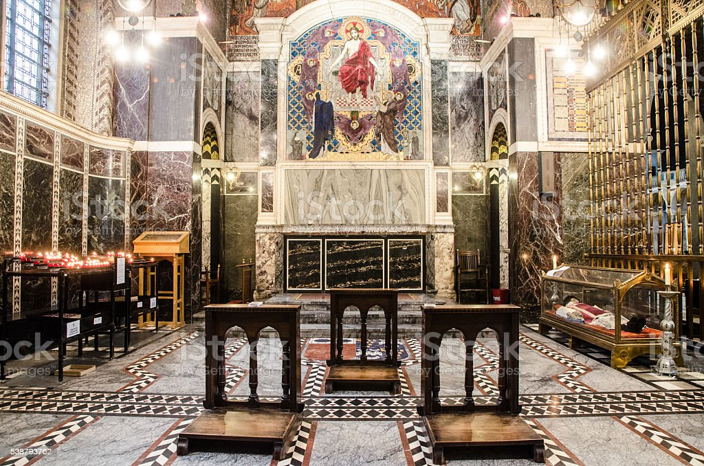 Inside of Chapel of Westminster Cathedral stock photo