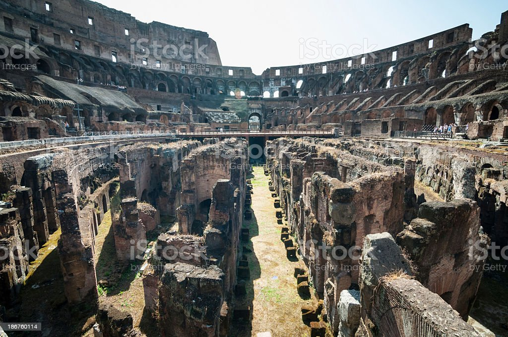 Inside of Colosseum, Rome royalty-free stock photo