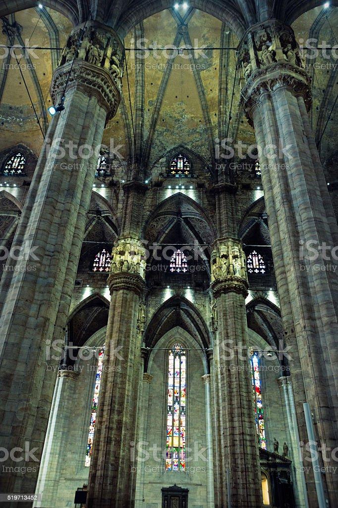 Inside of Duomo, Milano, Italy stock photo