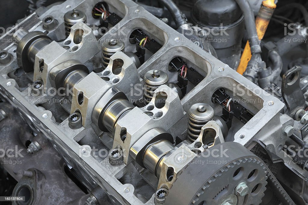 Inside of engine royalty-free stock photo