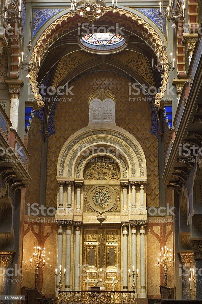 Inside of Jerusalem synagogue in Prague royalty-free stock photo