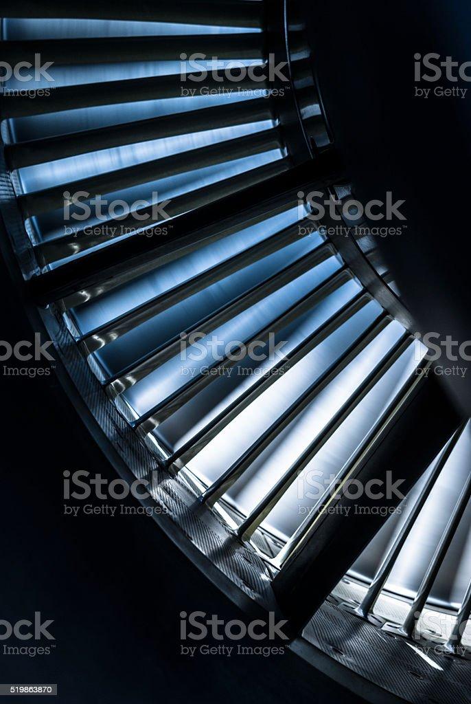 Inside of jet engine stock photo