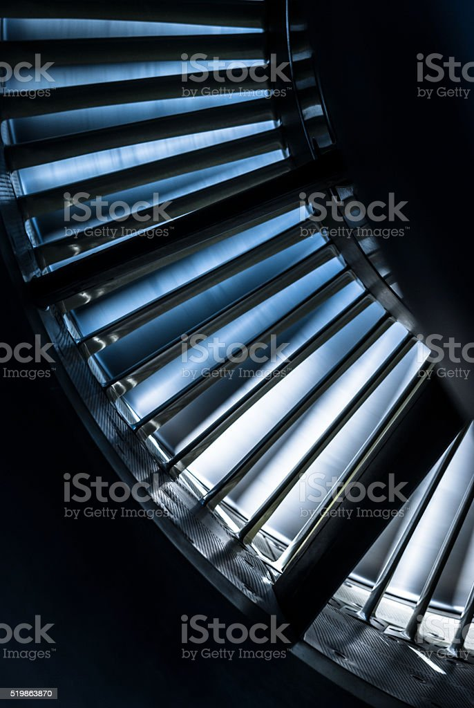 Inside of jet engine stock photo