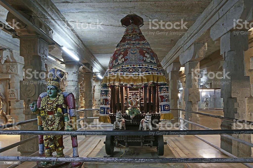Inside of Meenakshi hindu temple in Madurai, Tamil Nadu, India stock photo