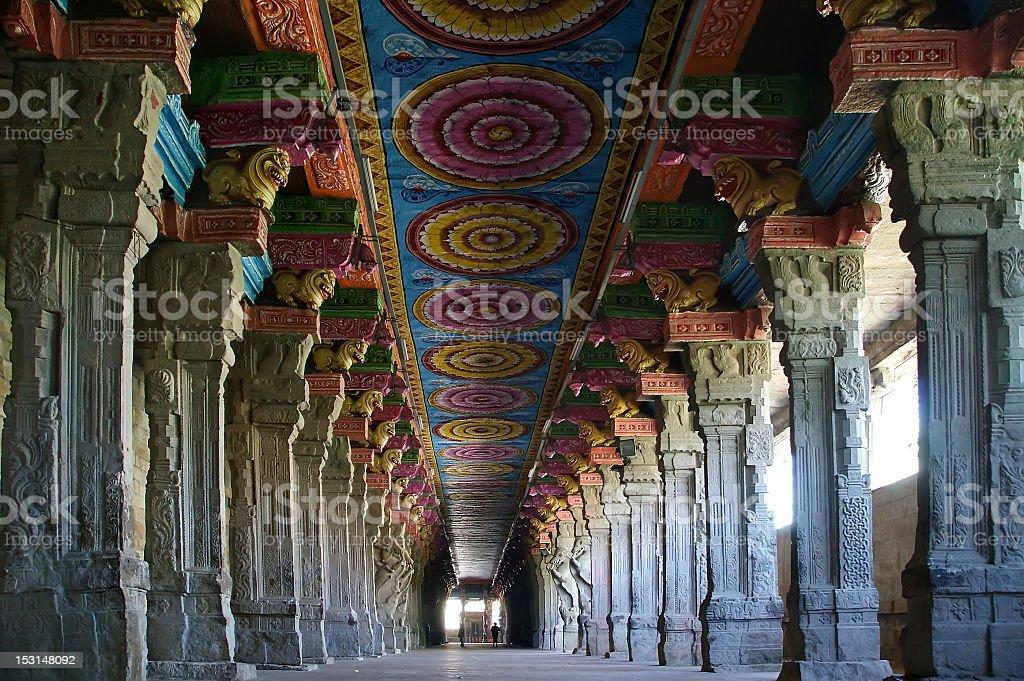 Inside of Meenakshi hindu temple in Madurai, Tamil Nadu stock photo