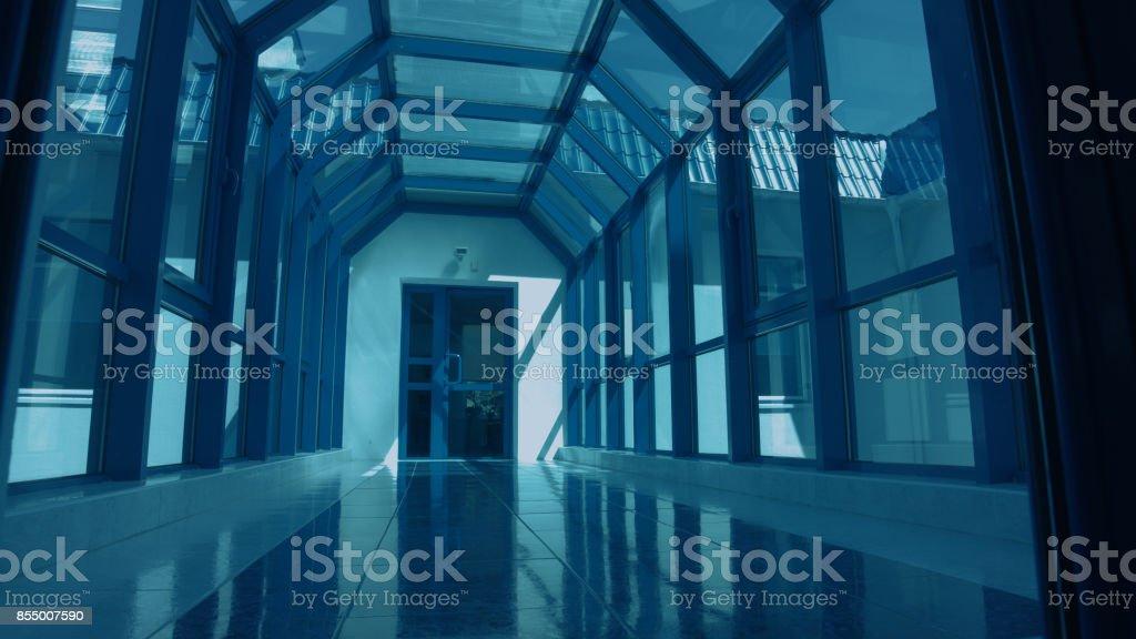 Inside of modern office building