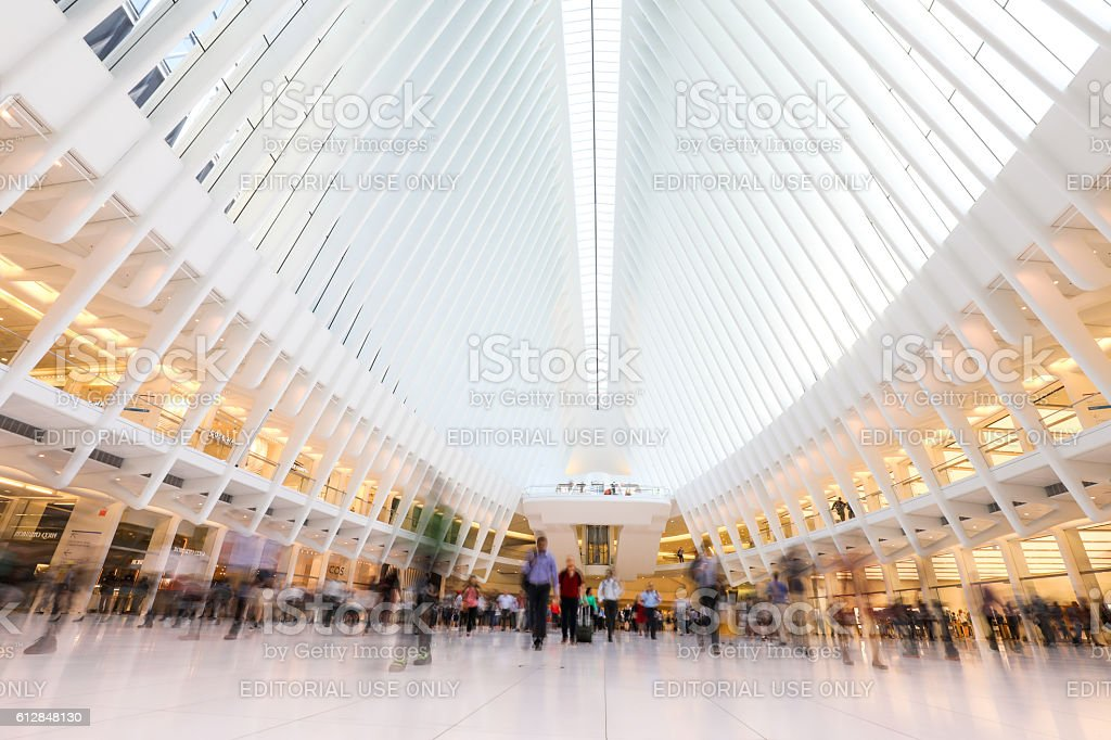 Inside of new World Trade Center in USA stock photo