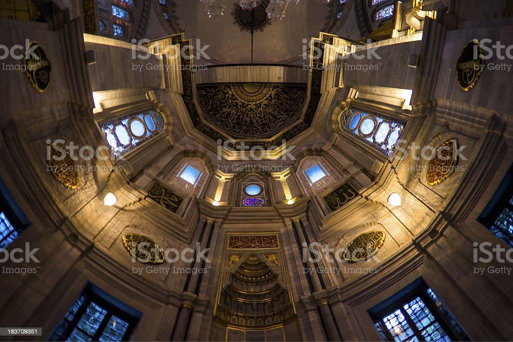 Inside of Nuruosmaniye Mosque royalty-free stock photo