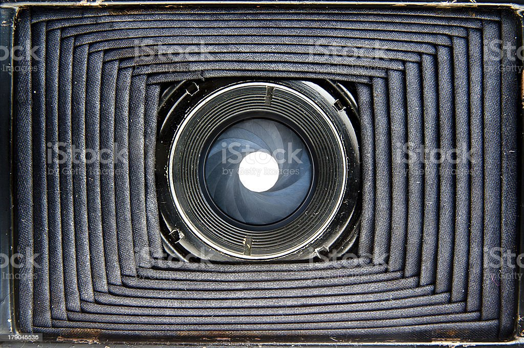 Inside of old camera royalty-free stock photo